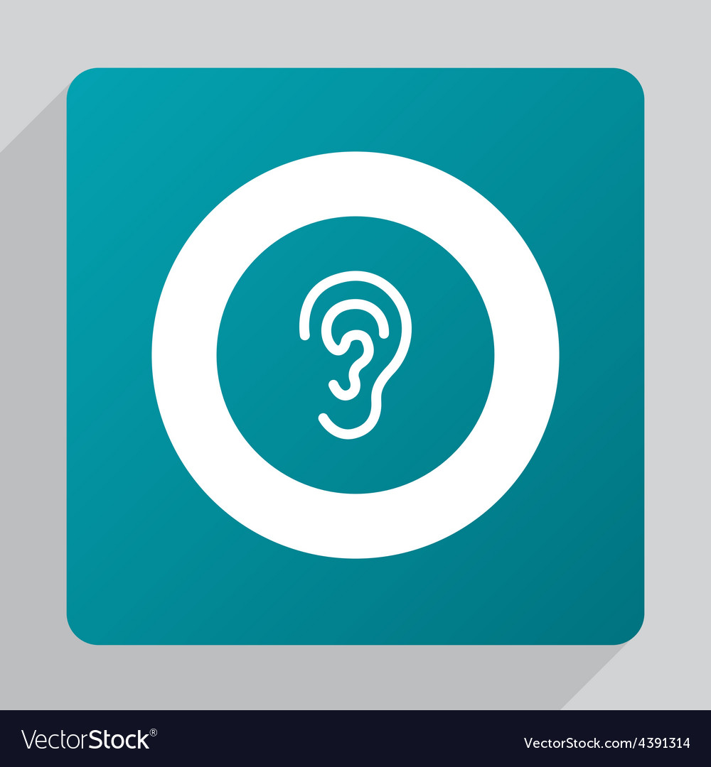 Flat ear icon vector | Price: 1 Credit (USD $1)