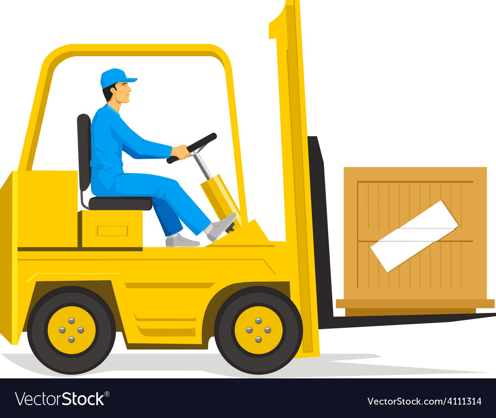 Forklift vector   Price: 1 Credit (USD $1)