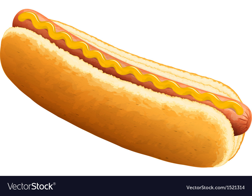 Hot dog with mustard vector | Price: 1 Credit (USD $1)