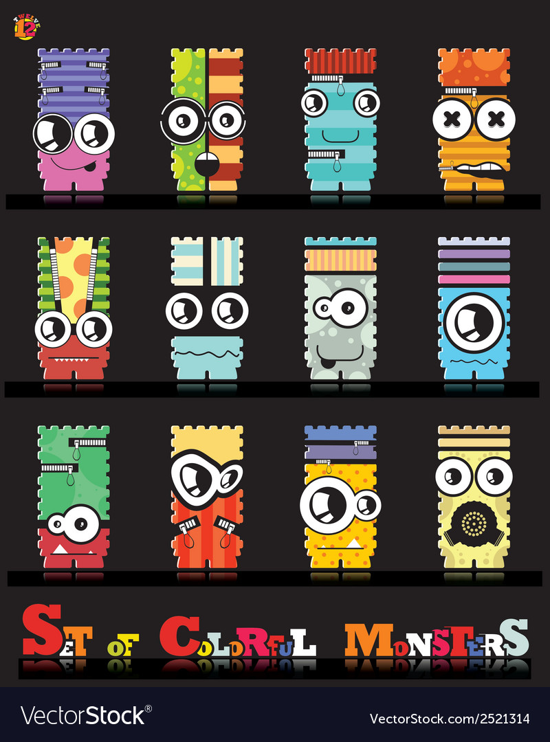 Monsters vector | Price: 1 Credit (USD $1)