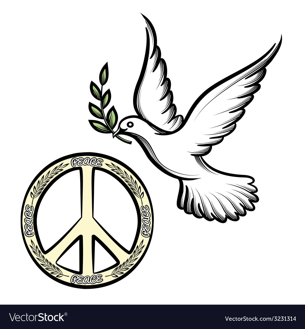 Pacific and the dove of peace vector | Price: 1 Credit (USD $1)