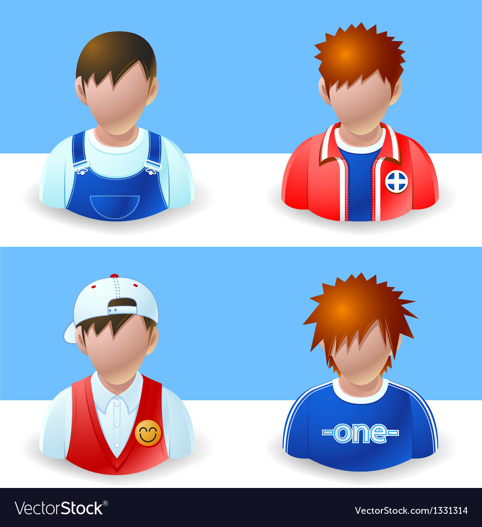 People icons boy and teenage vector   Price: 3 Credit (USD $3)
