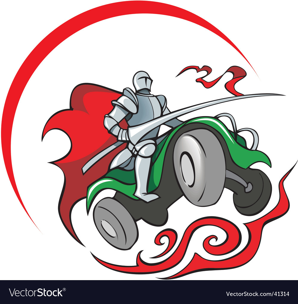 Quad bike knight vector | Price: 1 Credit (USD $1)
