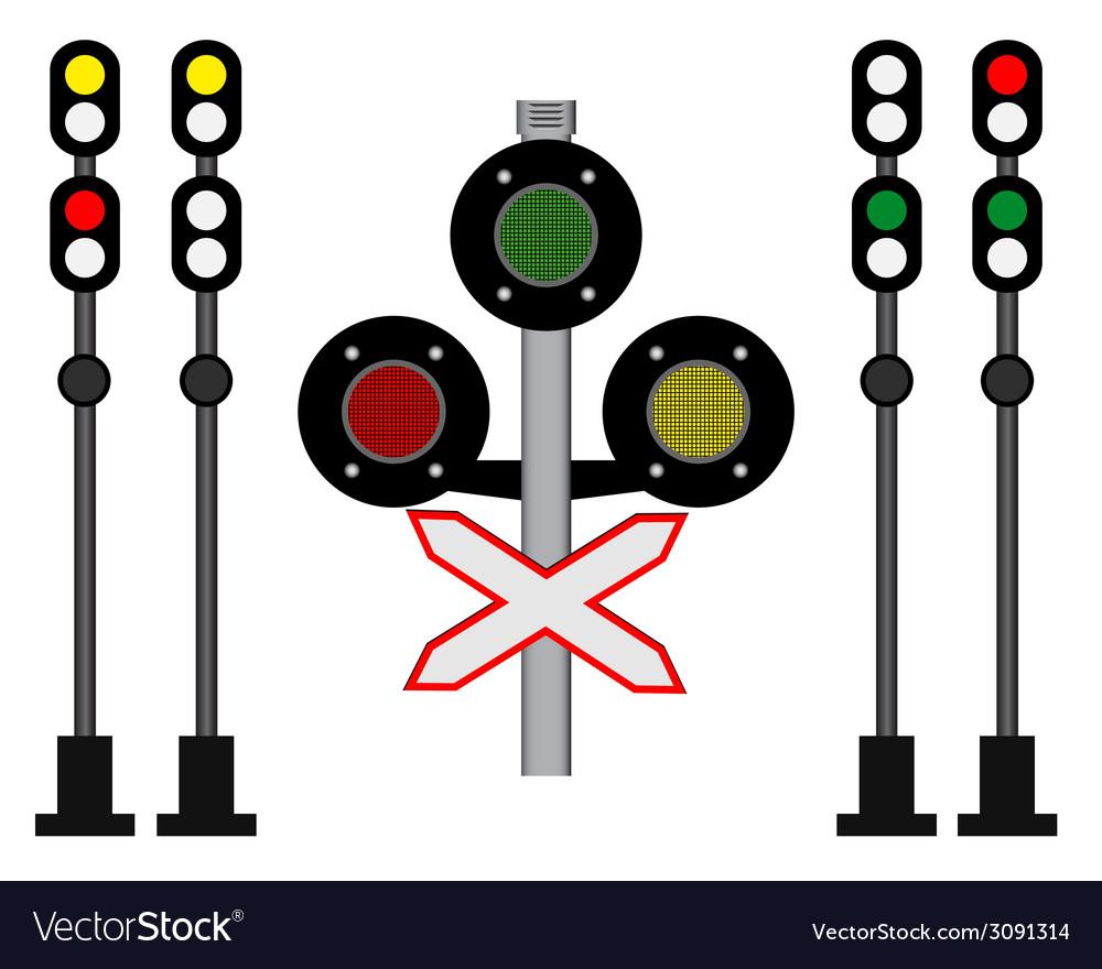 Railway traffic vector | Price: 1 Credit (USD $1)