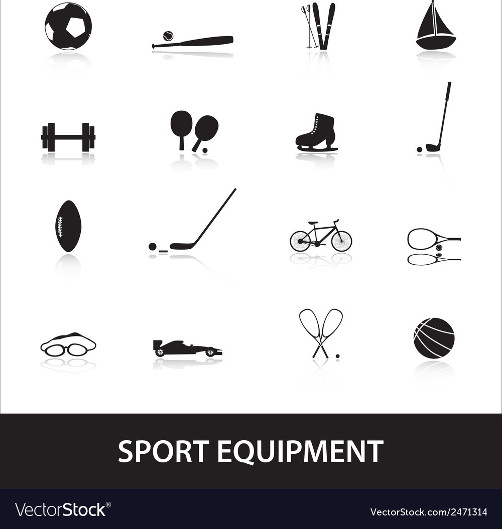 Sport equipment eps10 vector | Price: 1 Credit (USD $1)