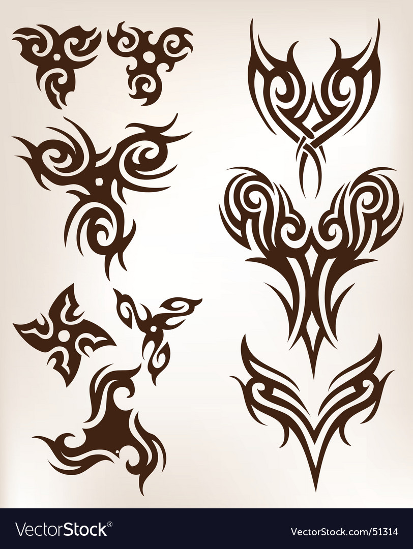 Tattoo collection vector | Price: 1 Credit (USD $1)