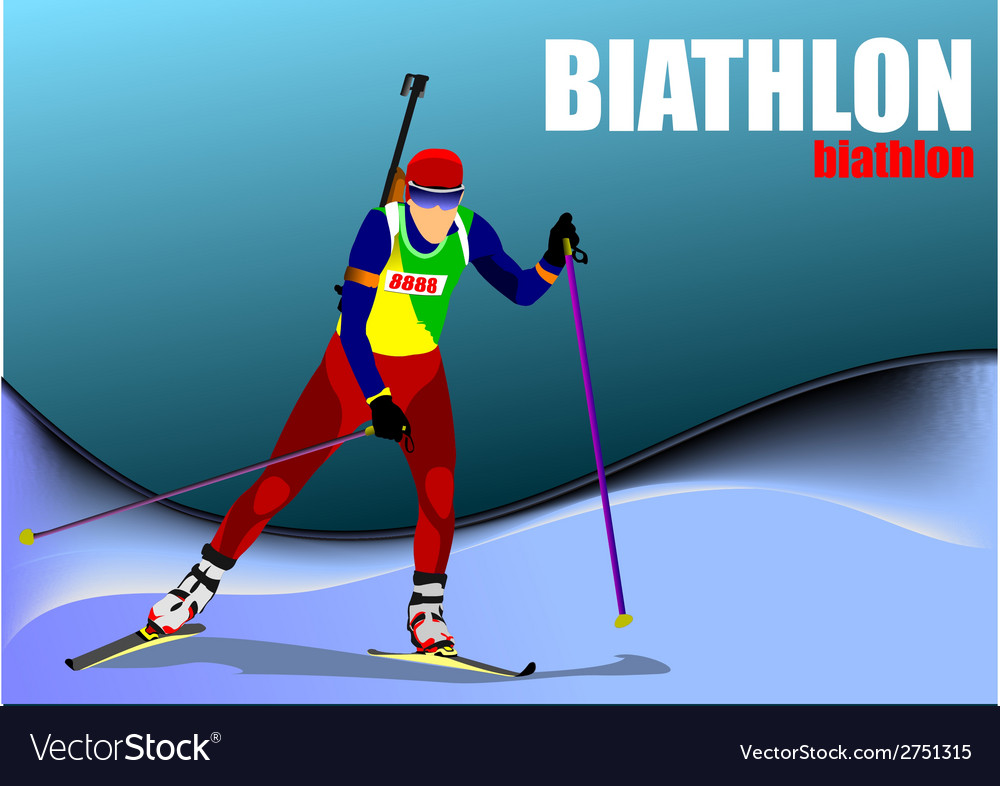 Al 0719 biathlon 02 vector | Price: 1 Credit (USD $1)