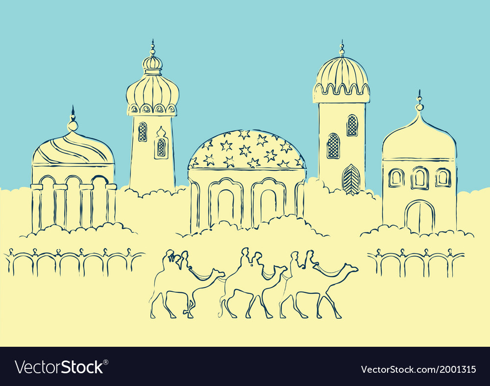 Arabic city vector | Price: 1 Credit (USD $1)