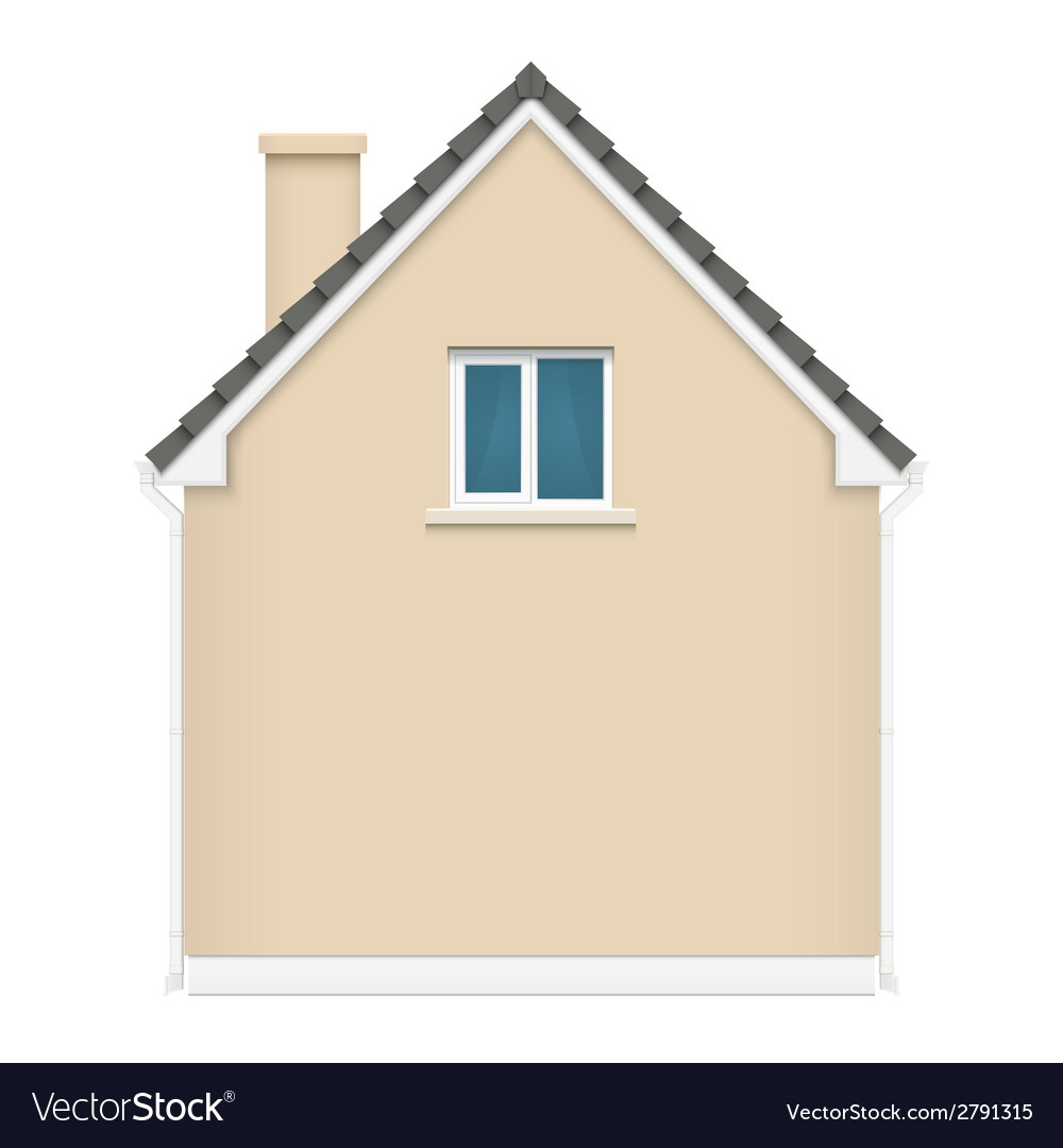 Architecture background with detailed house vector | Price: 1 Credit (USD $1)