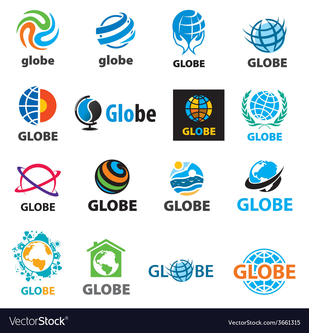 Biggest collection of logos globes vector   Price: 1 Credit (USD $1)