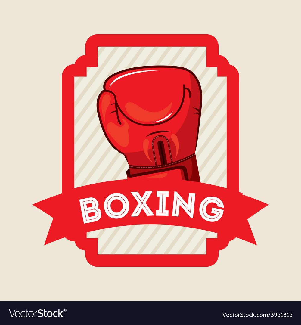 Boxing emblem vector   Price: 1 Credit (USD $1)