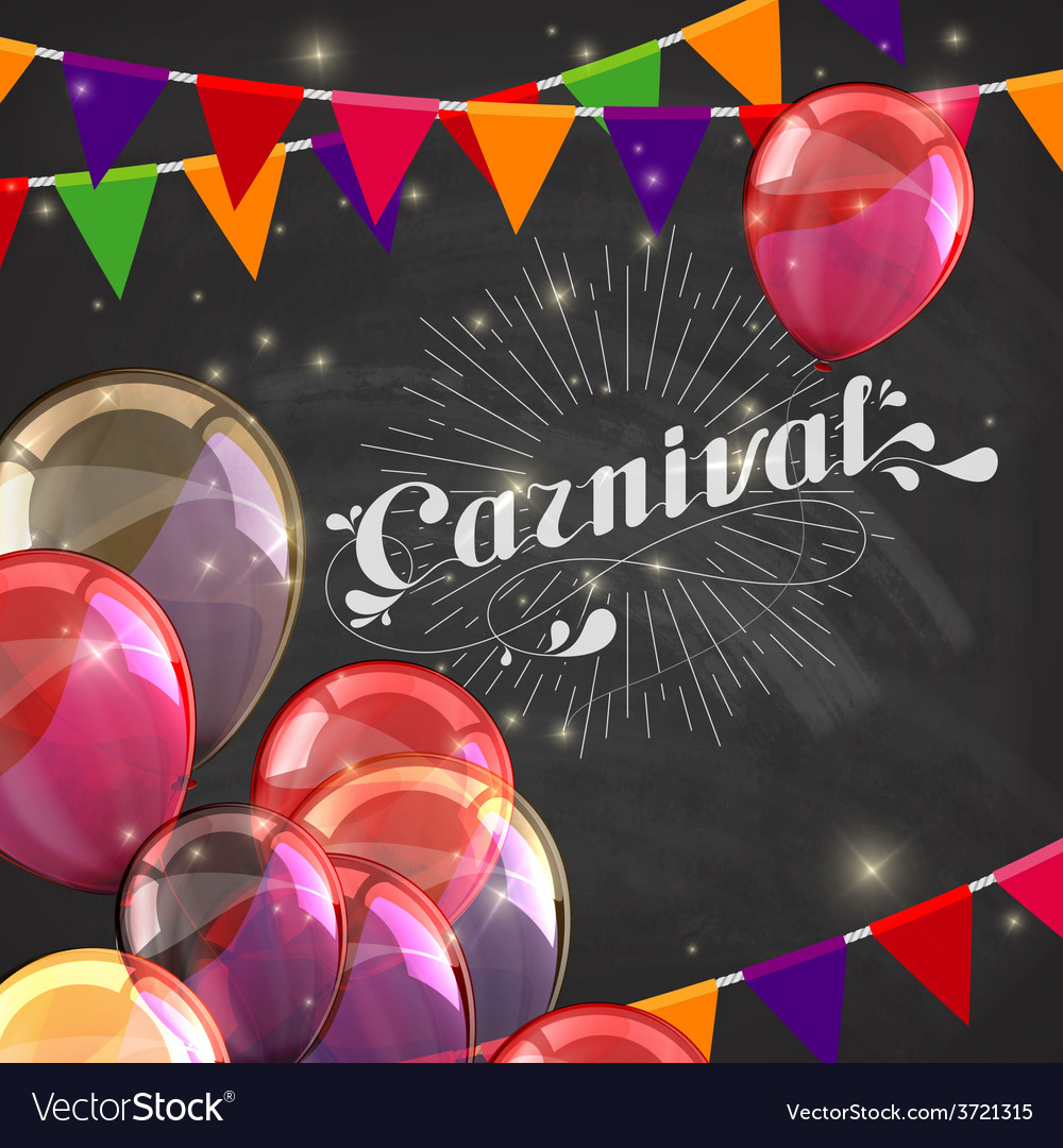 Chalk word carnival on the blackboard texture vector | Price: 1 Credit (USD $1)
