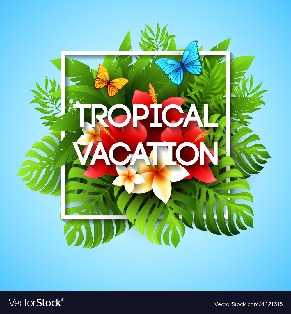 Exotic vacation with tropical vector | Price: 3 Credit (USD $3)