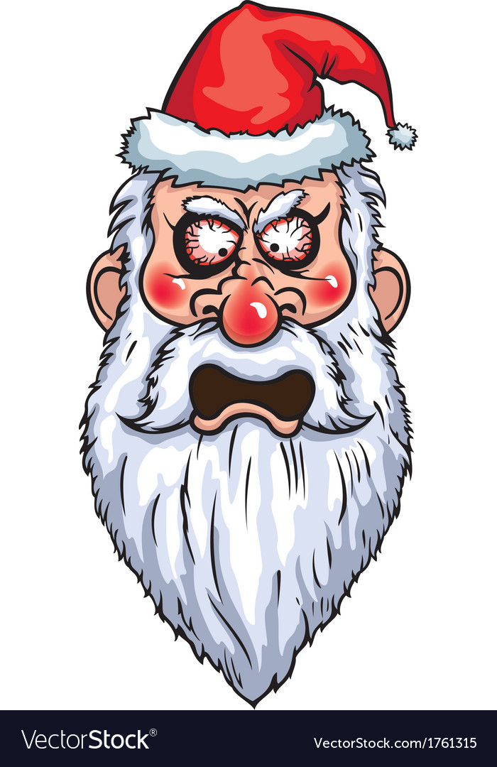 Furious santa head vector | Price: 1 Credit (USD $1)