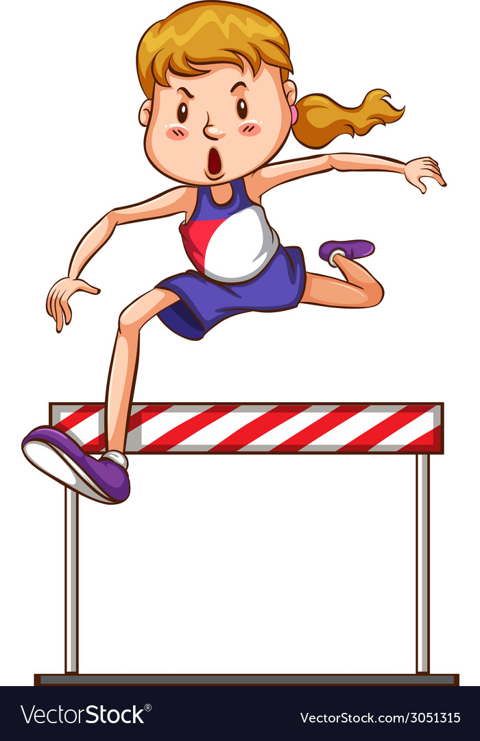 Girl jumping vector | Price: 1 Credit (USD $1)