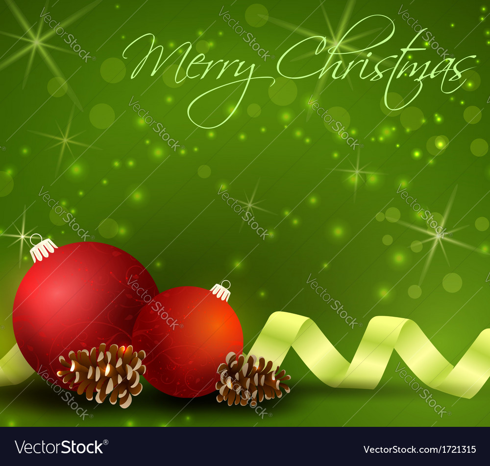 Green christmas background vector | Price: 1 Credit (USD $1)