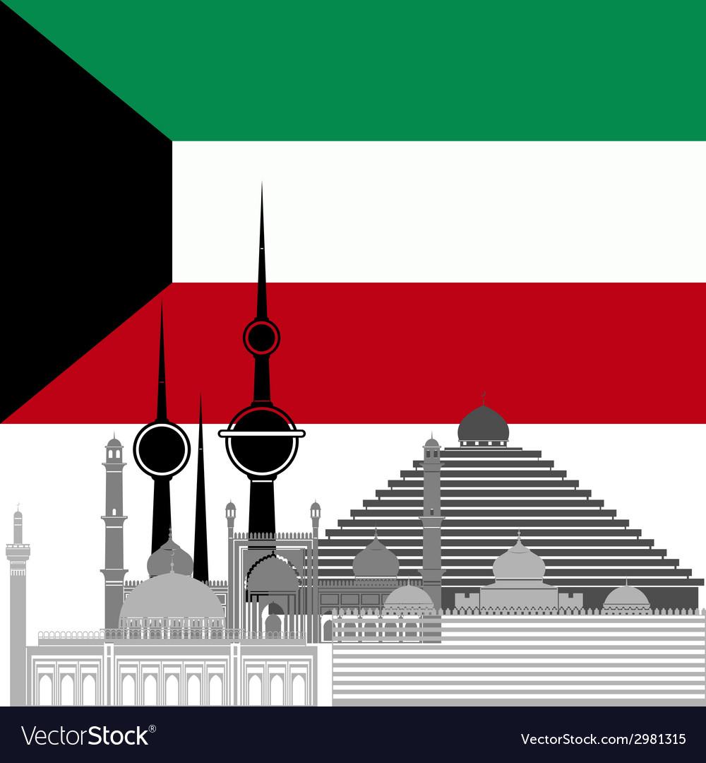 Kuwait vector | Price: 1 Credit (USD $1)