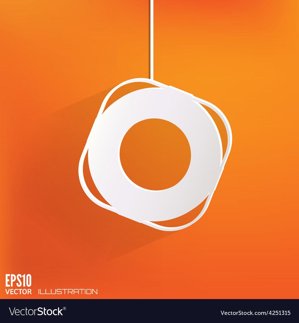 Lifebuoy web icon vector | Price: 1 Credit (USD $1)