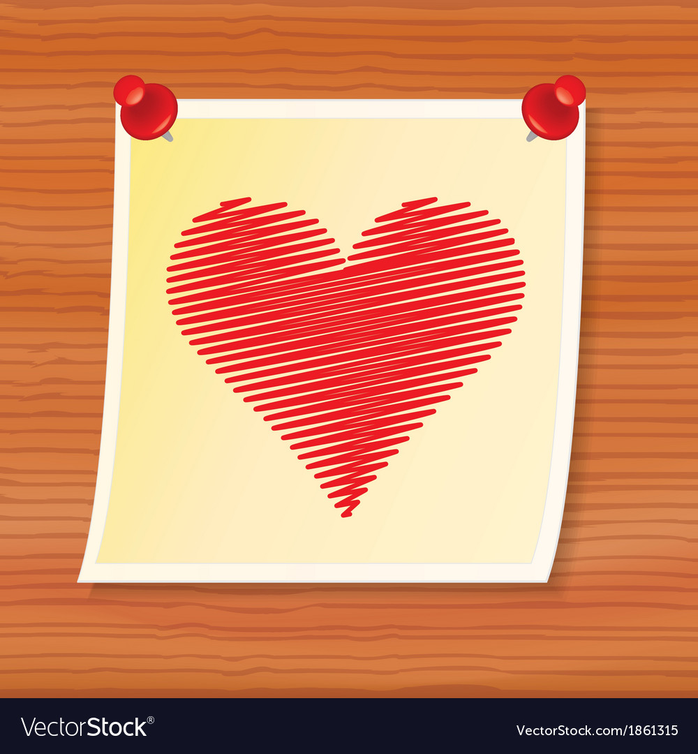 Note with valentine vector | Price: 1 Credit (USD $1)