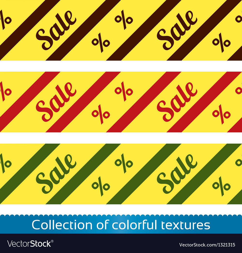 Sale seamless texture with percent discount vector | Price: 1 Credit (USD $1)