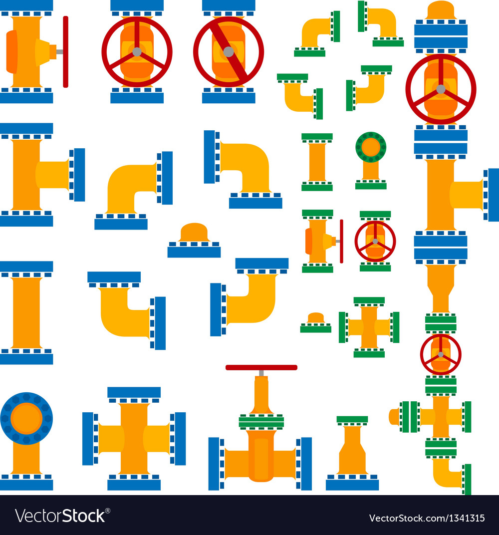 Set of pipeline elements vector | Price: 1 Credit (USD $1)