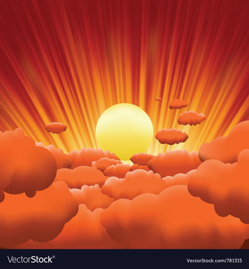 Sunburst background vector | Price: 1 Credit (USD $1)
