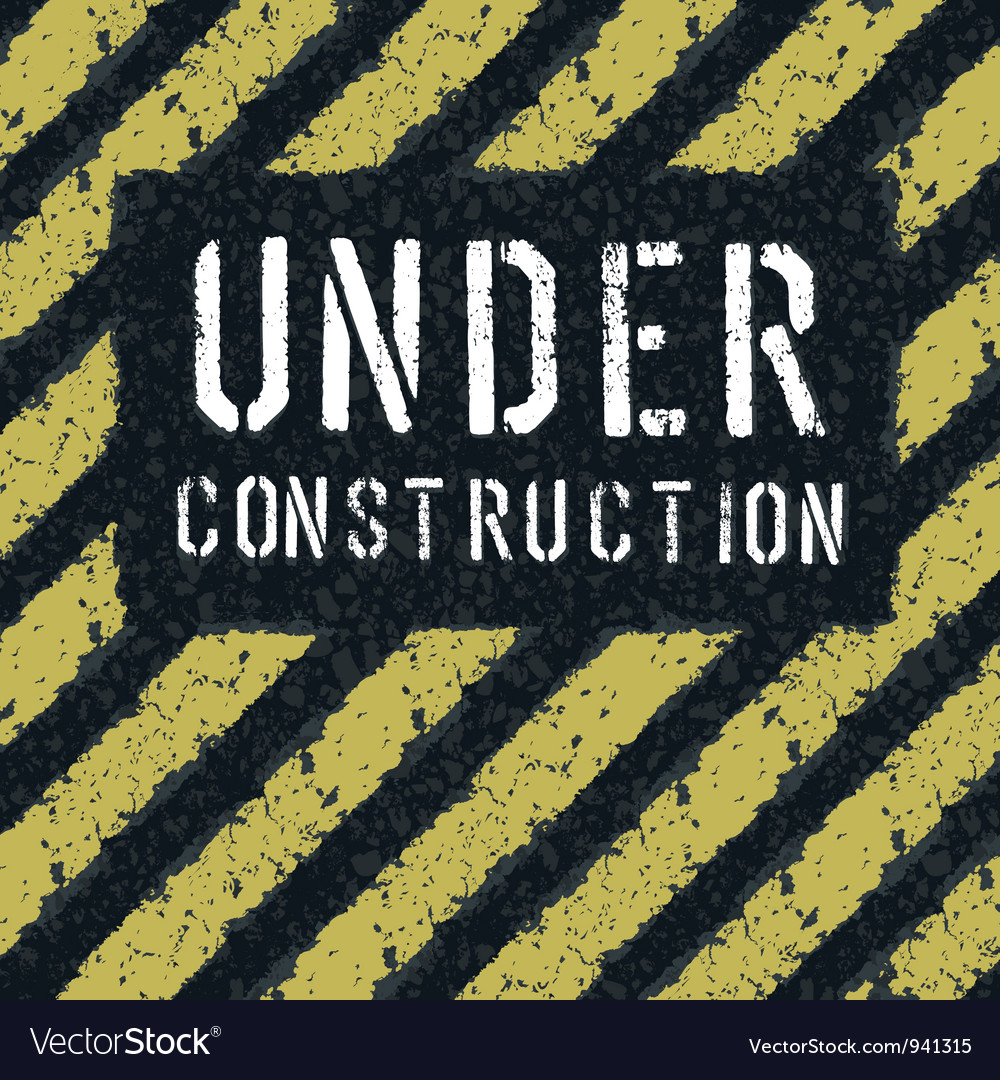 Under construction message on asphalt texture vector | Price: 1 Credit (USD $1)