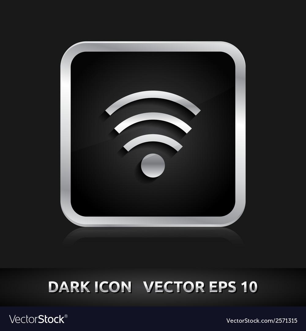 Wifi icon silver metal vector | Price: 1 Credit (USD $1)