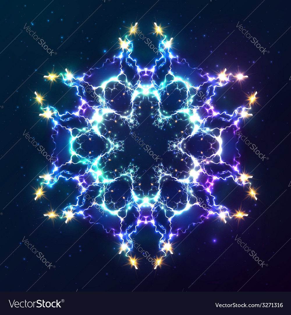 Abstract cosmic fractal snowflake vector | Price: 1 Credit (USD $1)
