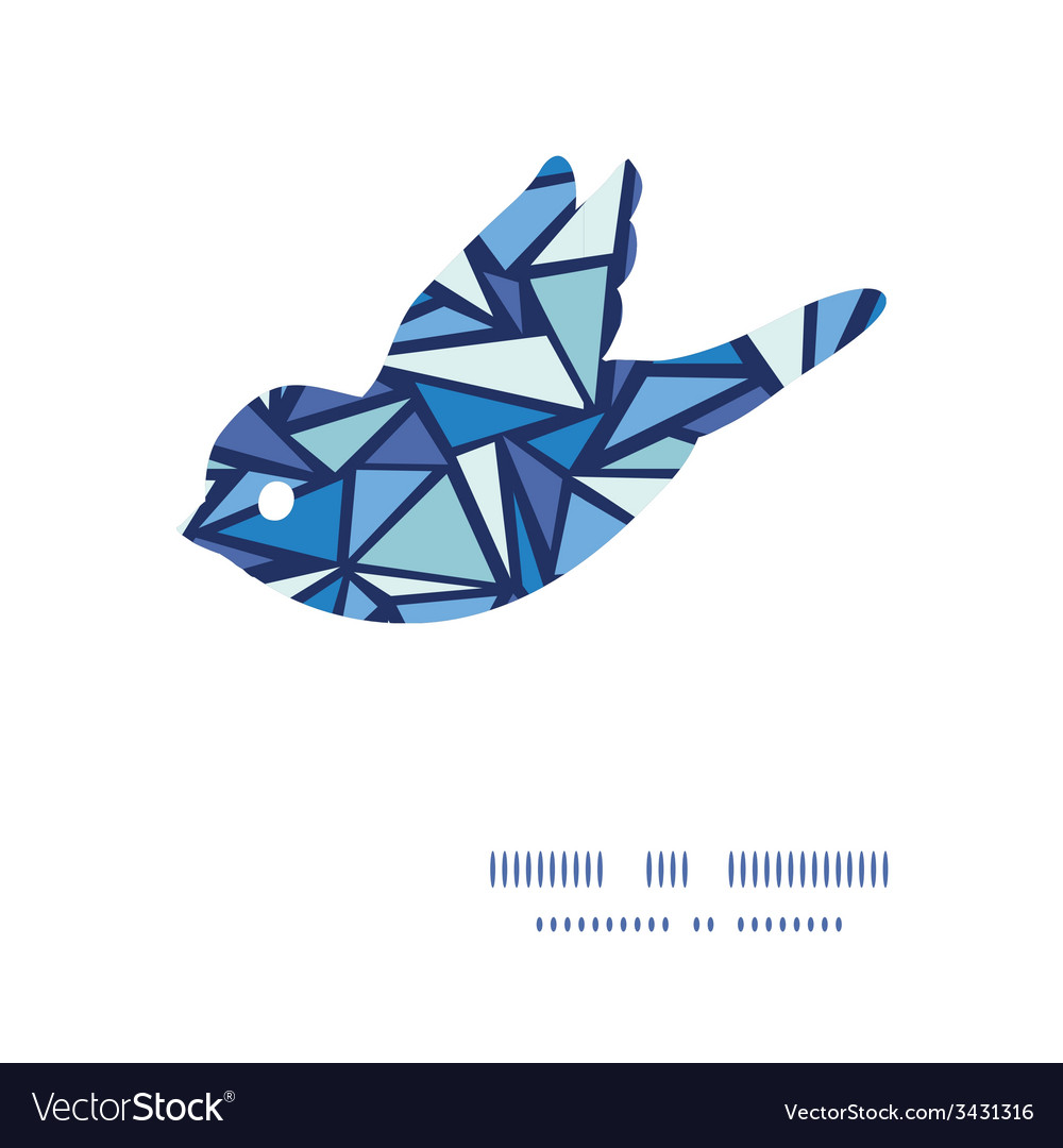 Abstract ice chrystals bird silhouette pattern vector | Price: 1 Credit (USD $1)