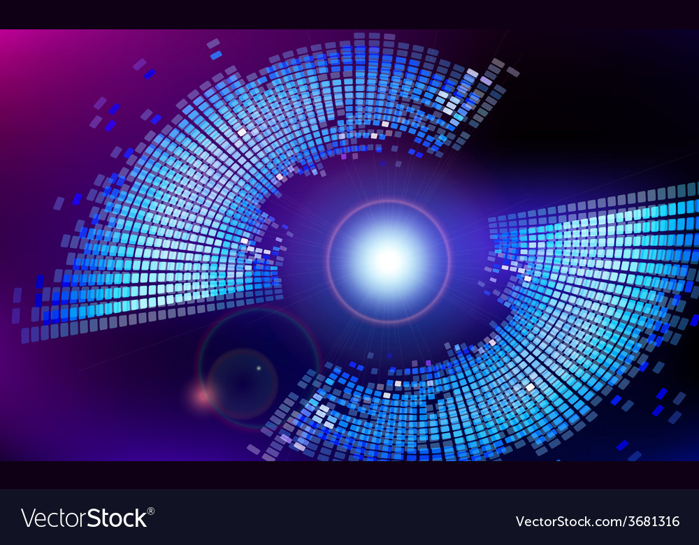Abstract virtual space technology background vector | Price: 1 Credit (USD $1)
