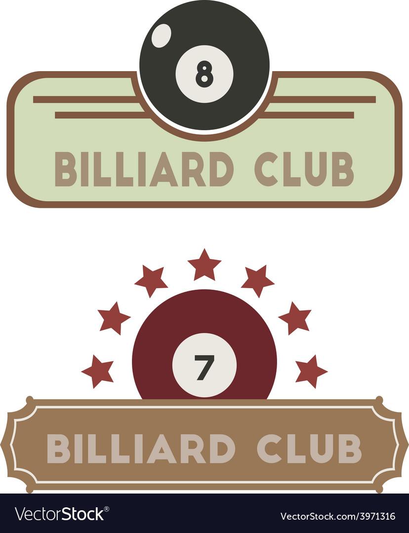 Billiard club vector | Price: 1 Credit (USD $1)