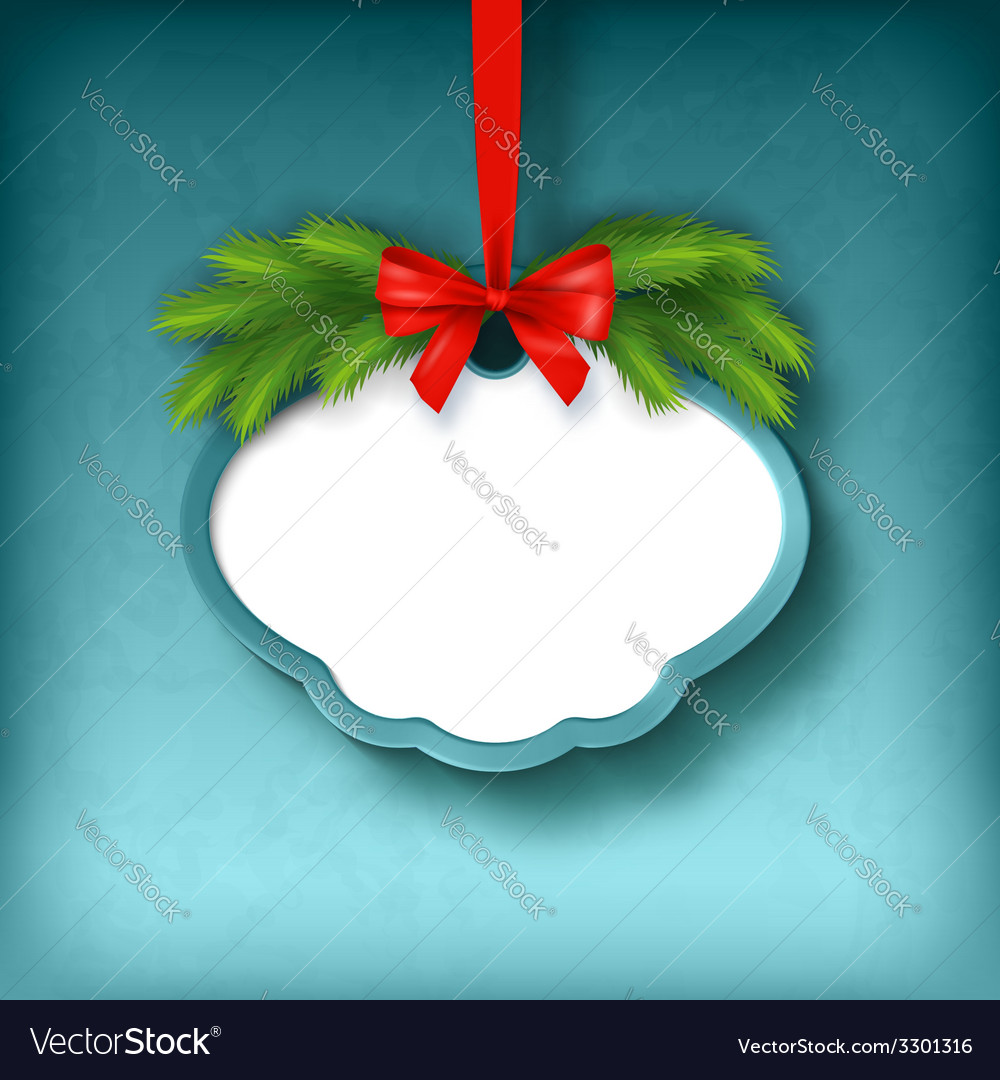 Christmas greeting frame card vector