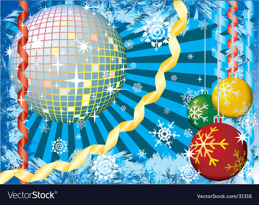 Christmas snow party vector | Price: 1 Credit (USD $1)