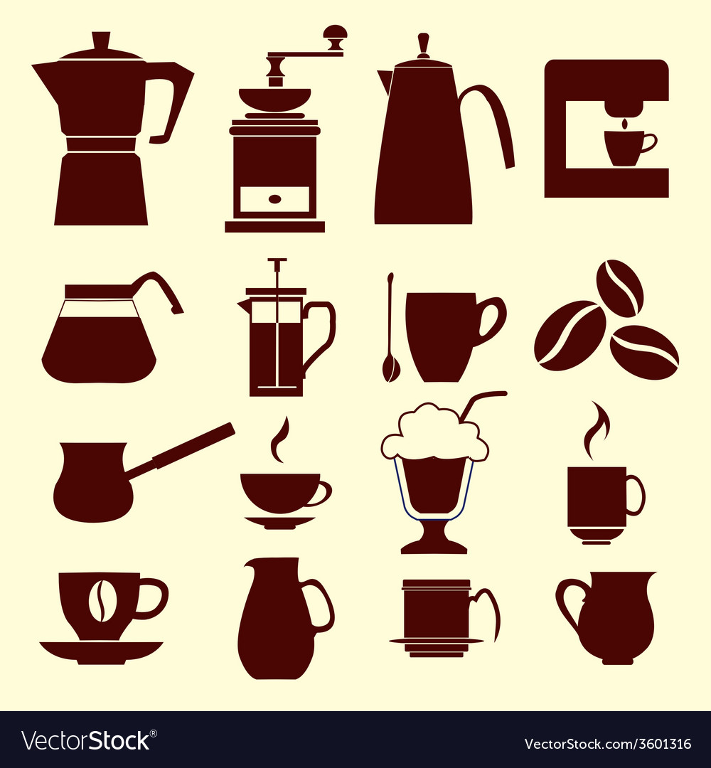 Coffee icons - vector | Price: 1 Credit (USD $1)