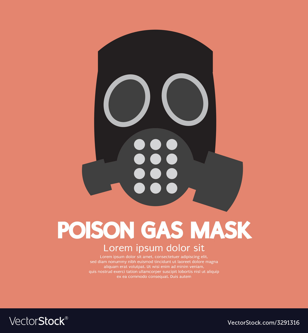 Flat design poison gas mask vector | Price: 1 Credit (USD $1)