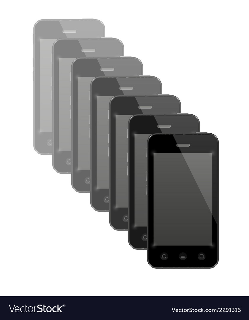 Group of smartphones vector | Price: 1 Credit (USD $1)