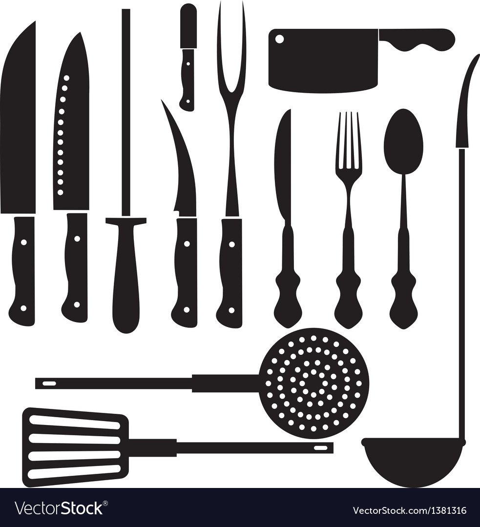 Kitchen tool silhouette vector | Price: 1 Credit (USD $1)