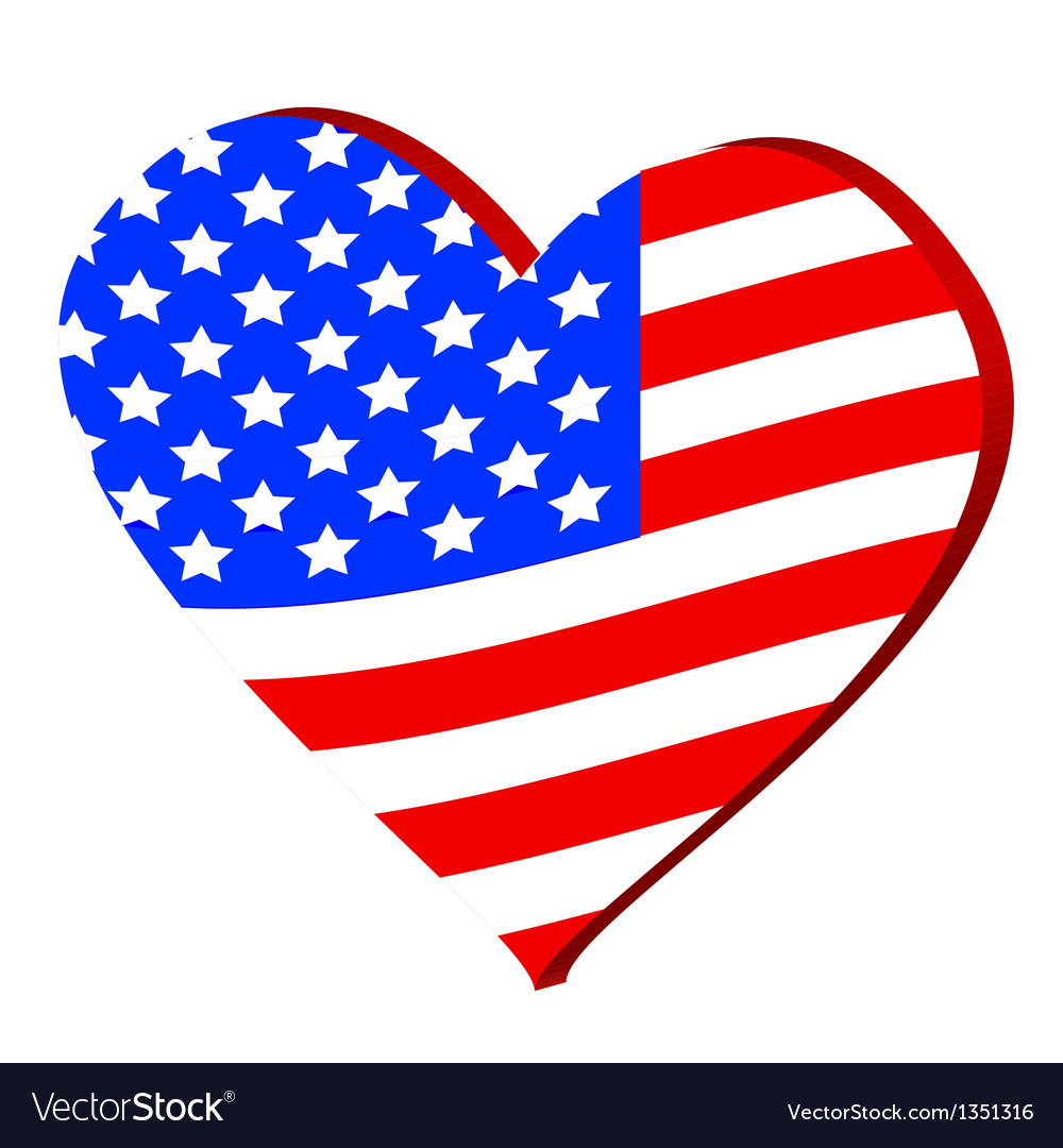 Love for america vector | Price: 1 Credit (USD $1)