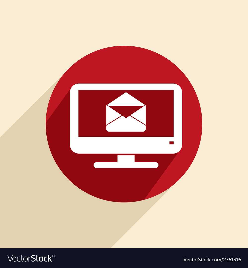 Monitor letter envelope vector | Price: 1 Credit (USD $1)