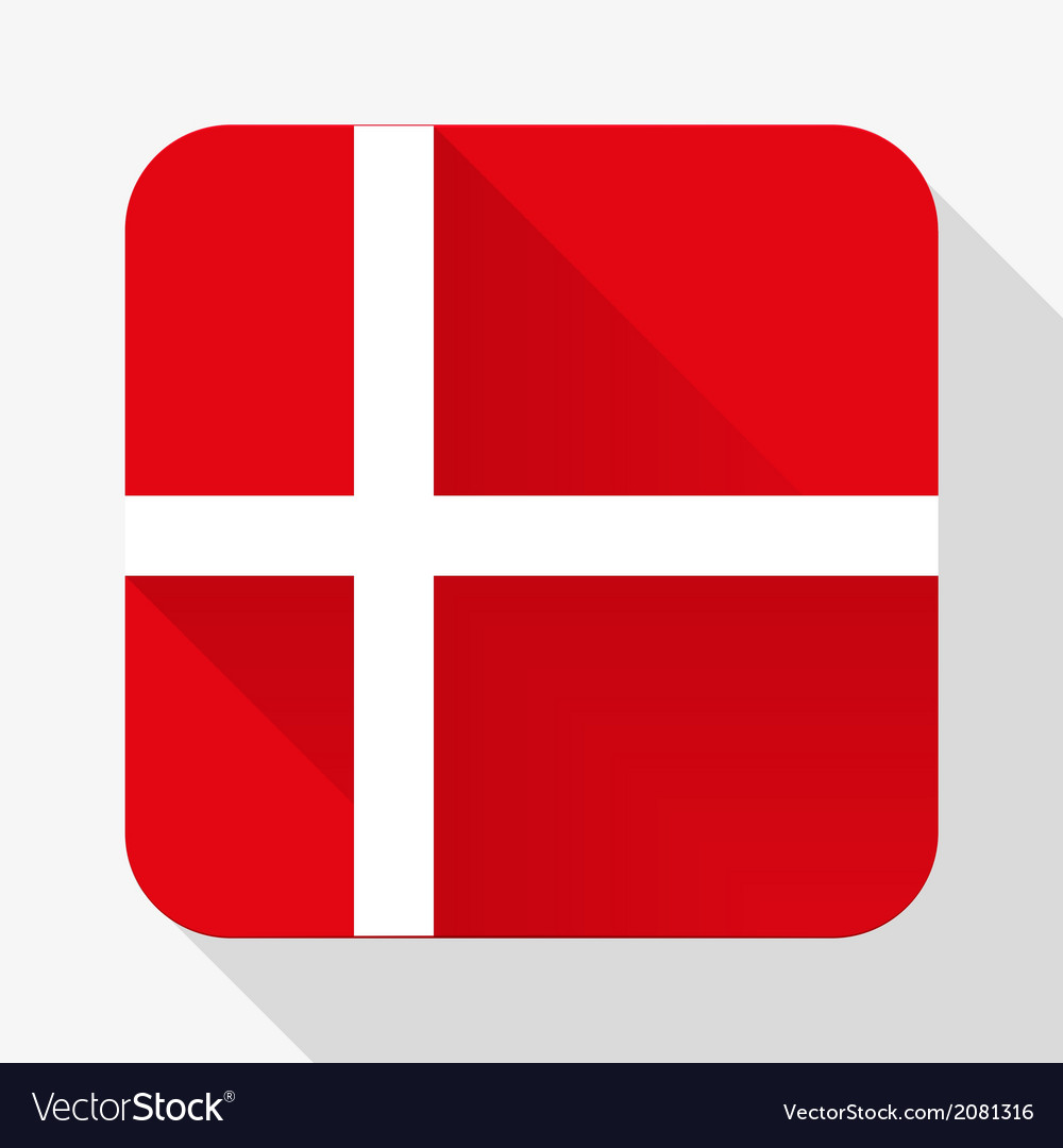 Simple flat icon denmark flag vector | Price: 1 Credit (USD $1)