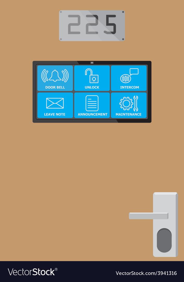 Smart door screen vector | Price: 1 Credit (USD $1)