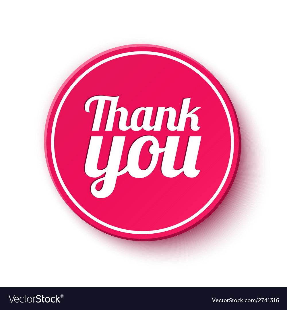 Thank you round label vector | Price: 1 Credit (USD $1)