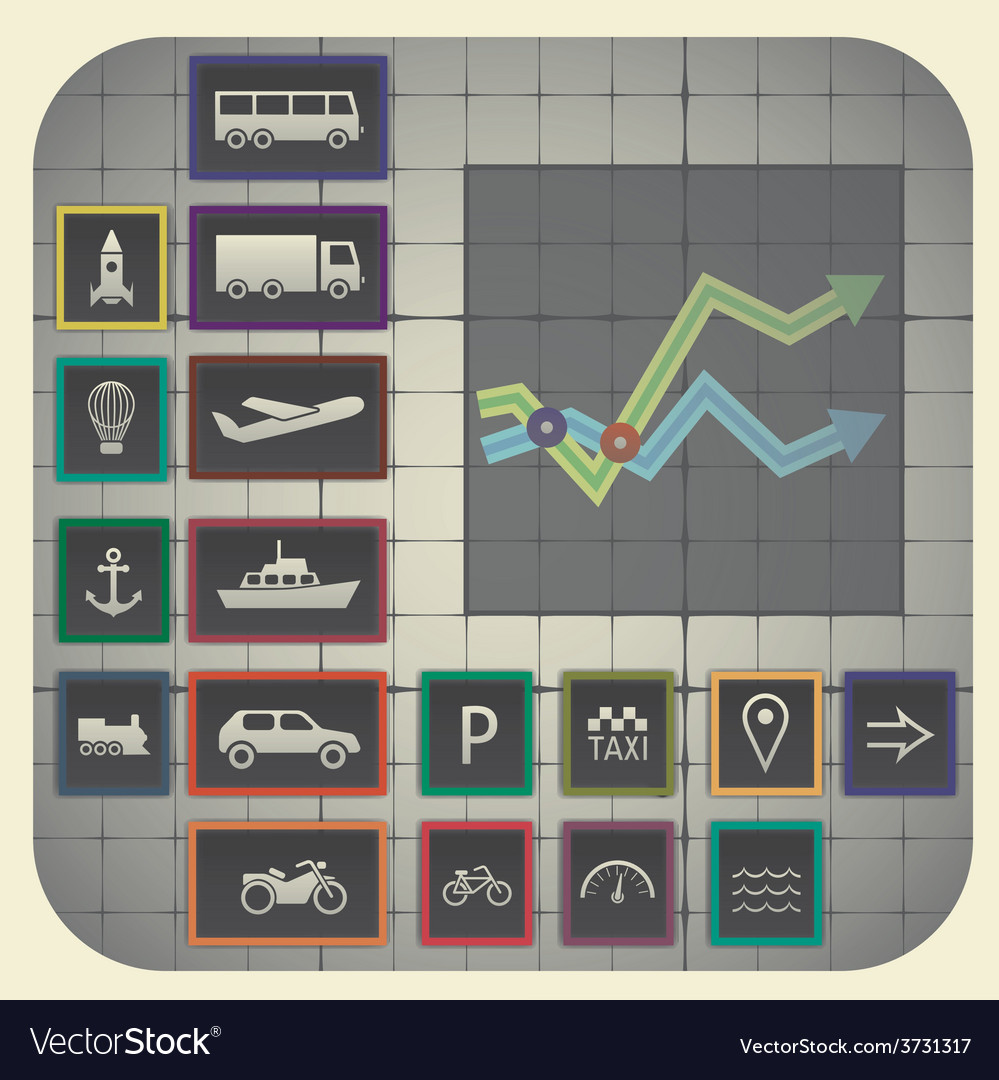 17 infographic elements with graph background vector | Price: 1 Credit (USD $1)