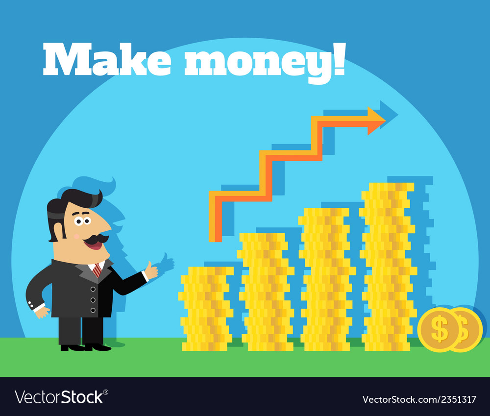 Business life make money concept vector | Price: 1 Credit (USD $1)
