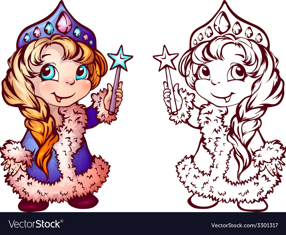 Christmas of funny snow-maiden vector | Price: 1 Credit (USD $1)
