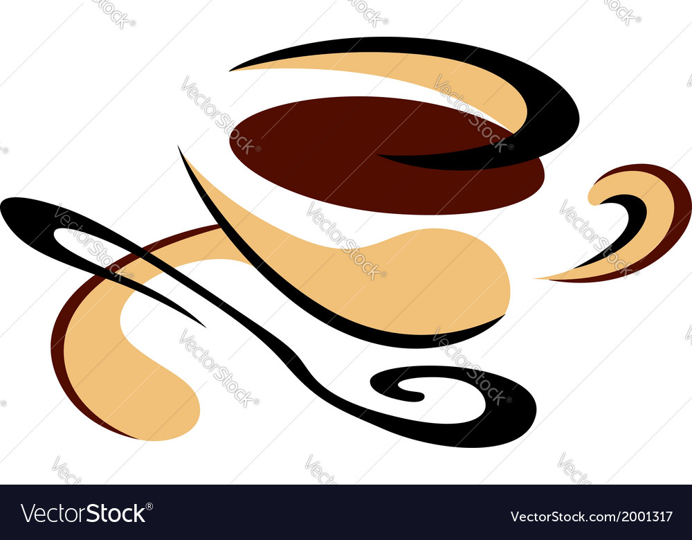 Cup of freshly brewed espresso coffee vector | Price: 1 Credit (USD $1)