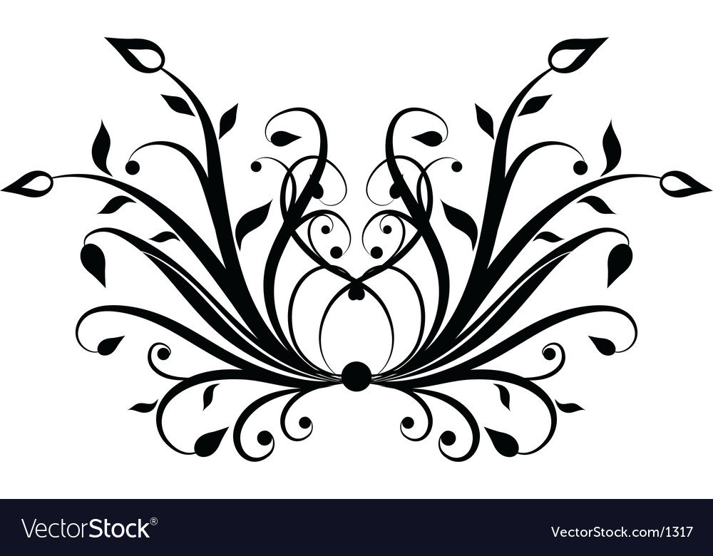 Decorative ornament vector | Price: 1 Credit (USD $1)