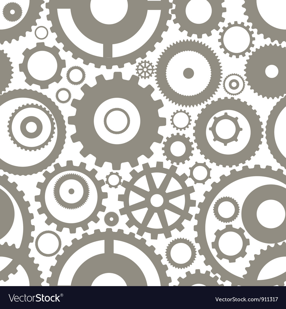 Gear wheels seamless background vector | Price: 1 Credit (USD $1)
