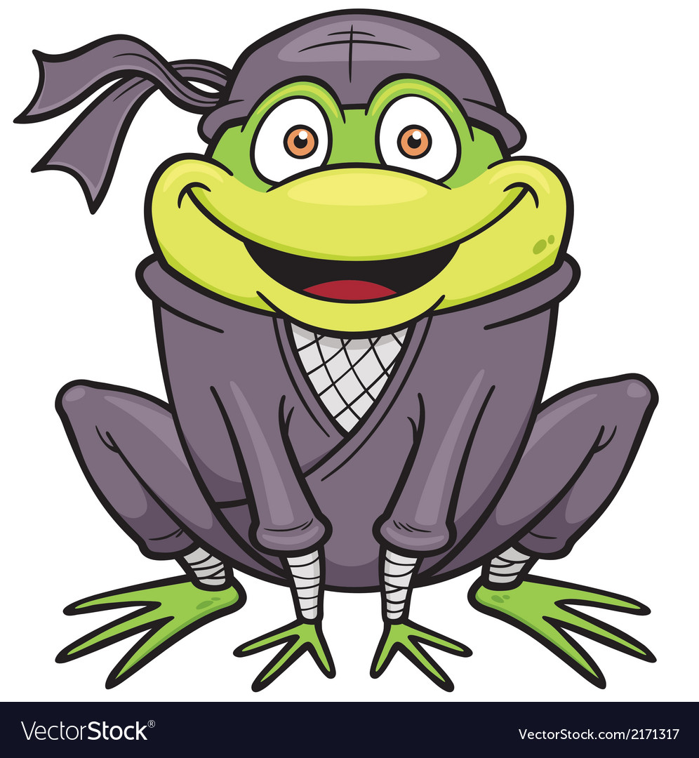 Ninja frog vector   Price: 1 Credit (USD $1)